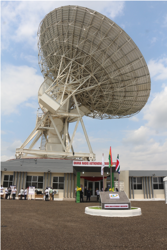 Radiotélescope au Ghana